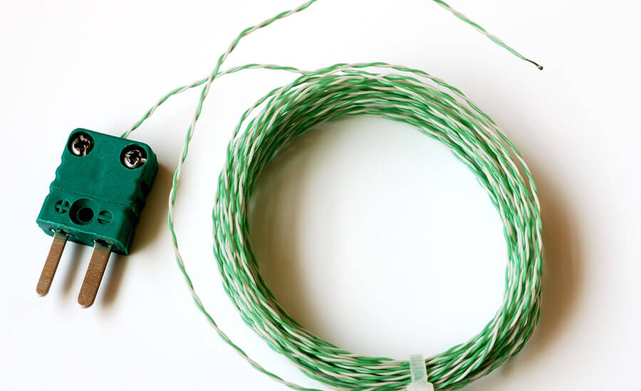 Green connector for the K type thermocouple