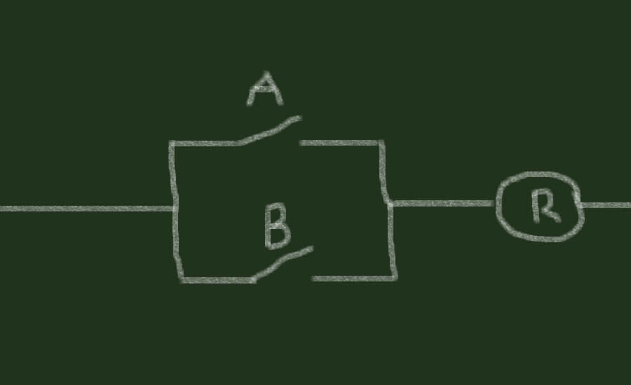 Parallel connection before a relay