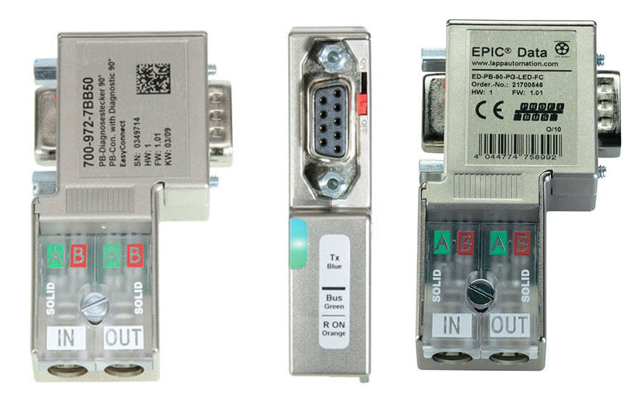 Profibus D-sub connectors for Profibus cable