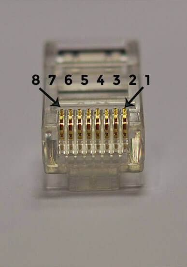 RJ45 UTP connector for crimping