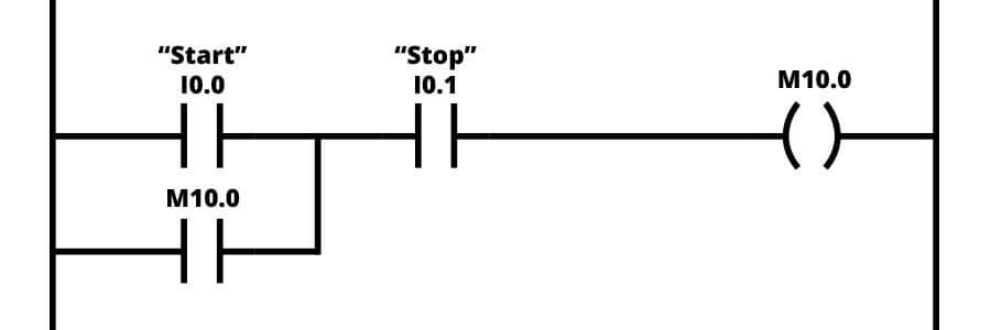 start stop ladder logic example