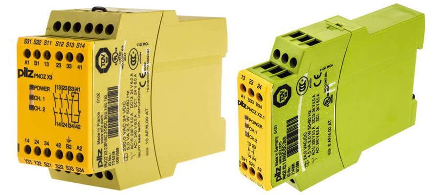 Newer versions of the PILZ PNOZ Safety Relays