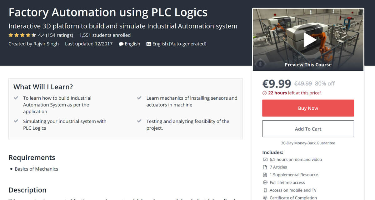Factory Automation using PLC Logics