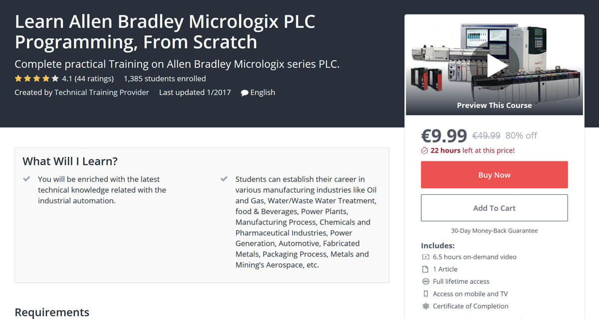 Learn Allen Bradley Micrologix PLC Programming, From Scratch