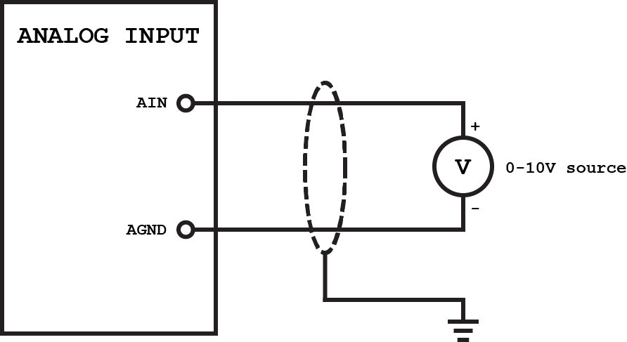 Wiring of Voltage Analog Input
