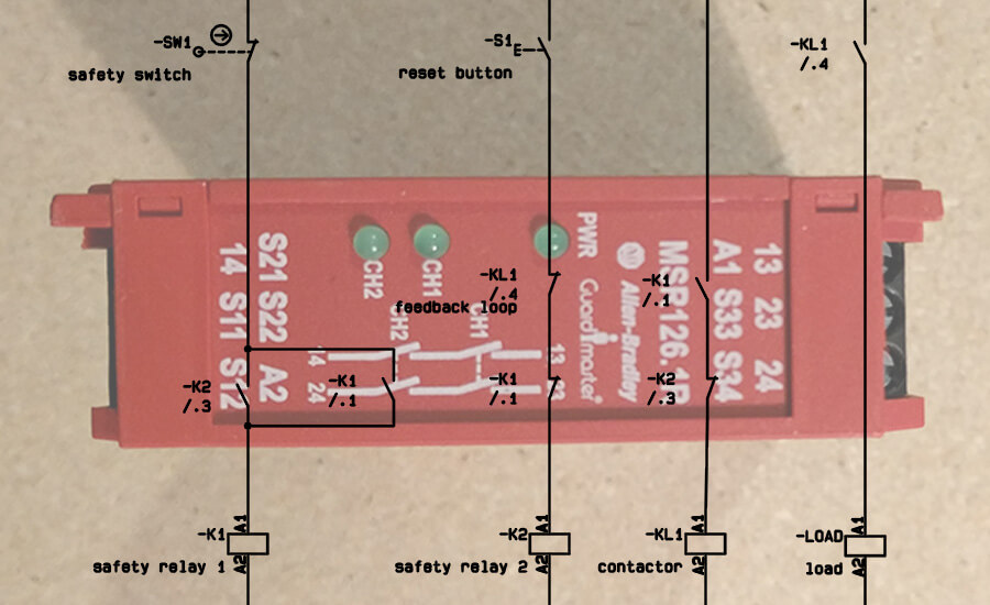 Is A Diagram Showing How To Wire Up A Relay For A Typical ... Warrick Series Wiring Diagrams on